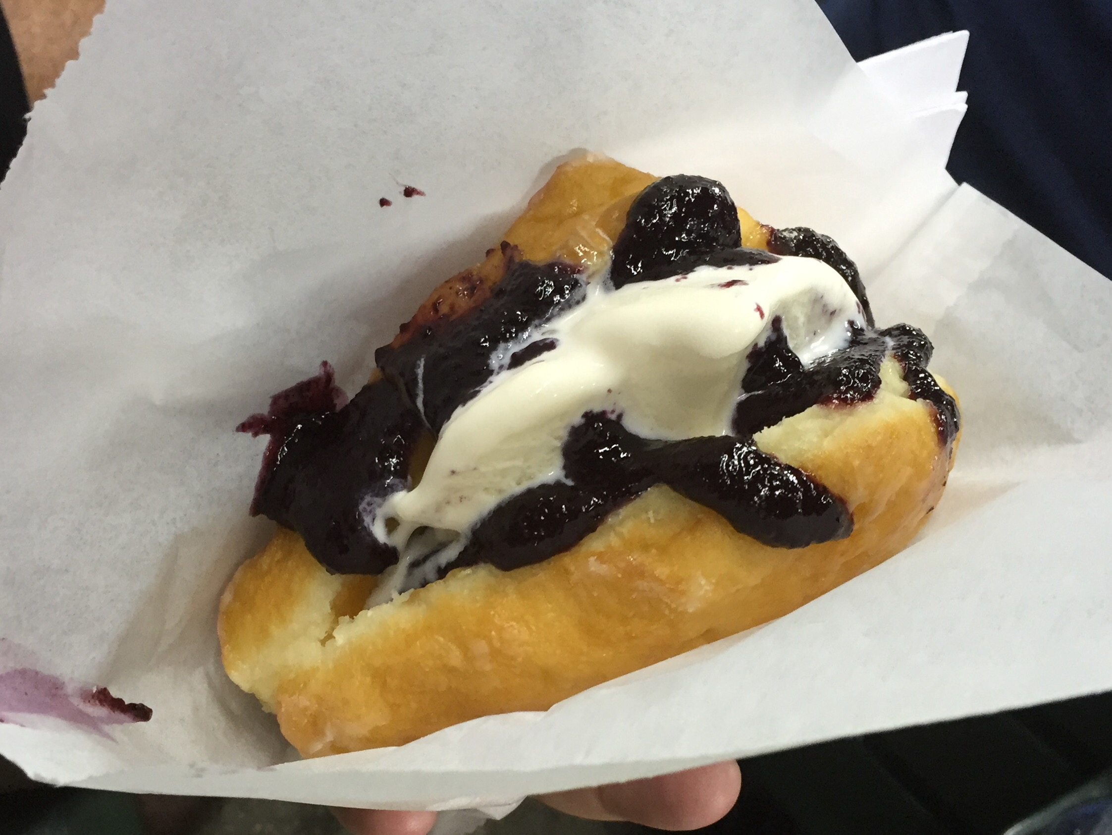 PB&J Sandwich...in between a doughnut, including custard of course for $6.