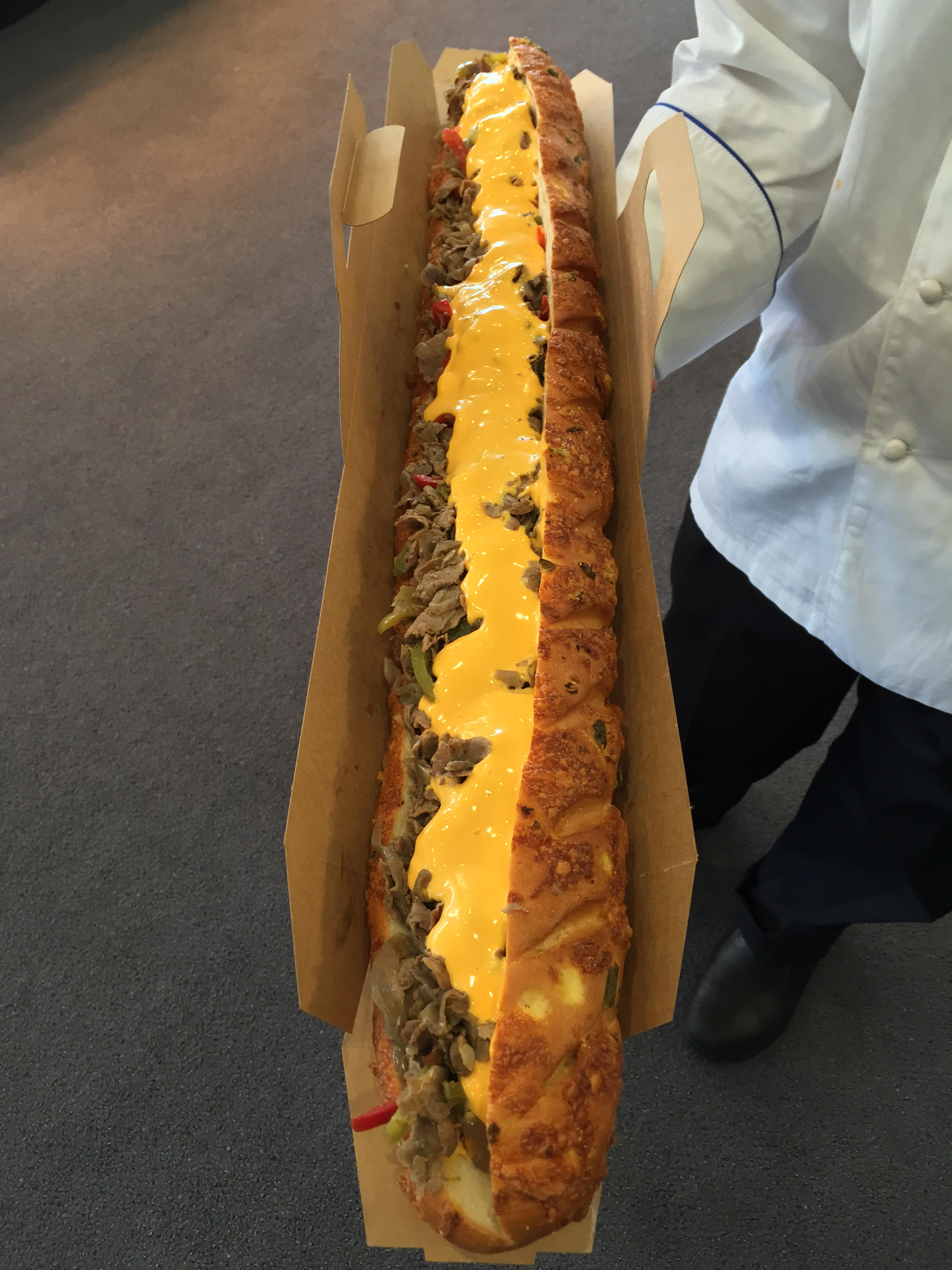 Philly by the Foot    – Philly sandwich up to 3 feet long