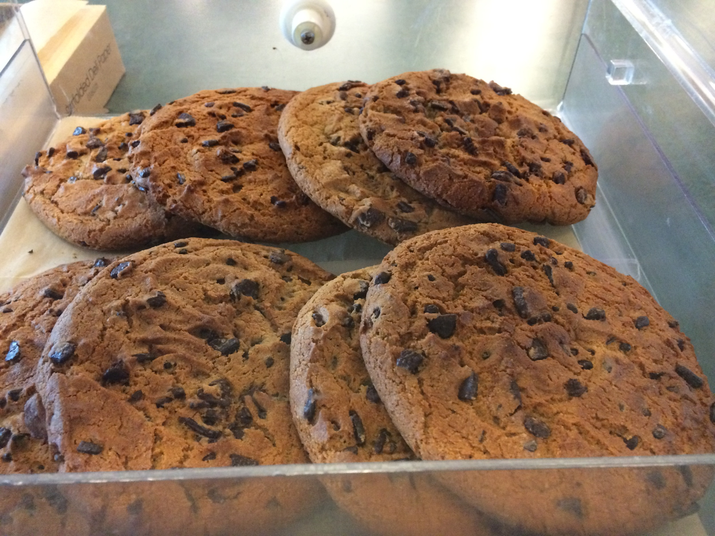 Oversized, jumbo chocolate chip cookies available for $4.