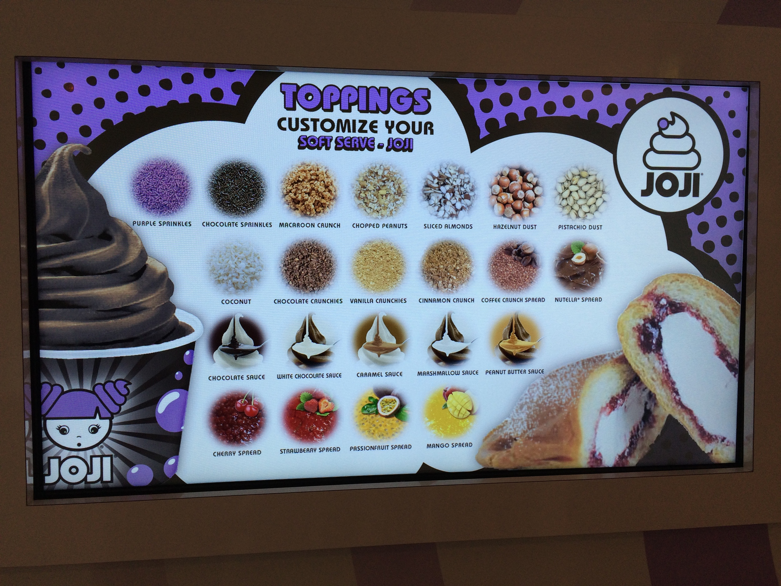JOJI frozen yogurt - mix and match as you choose for $8.