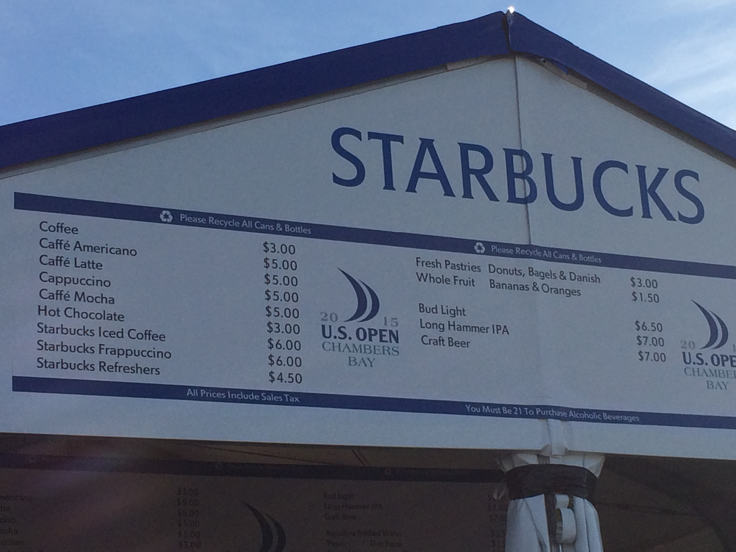 More local flavor as Chanbers Bay even had their very own Starbucks stand!