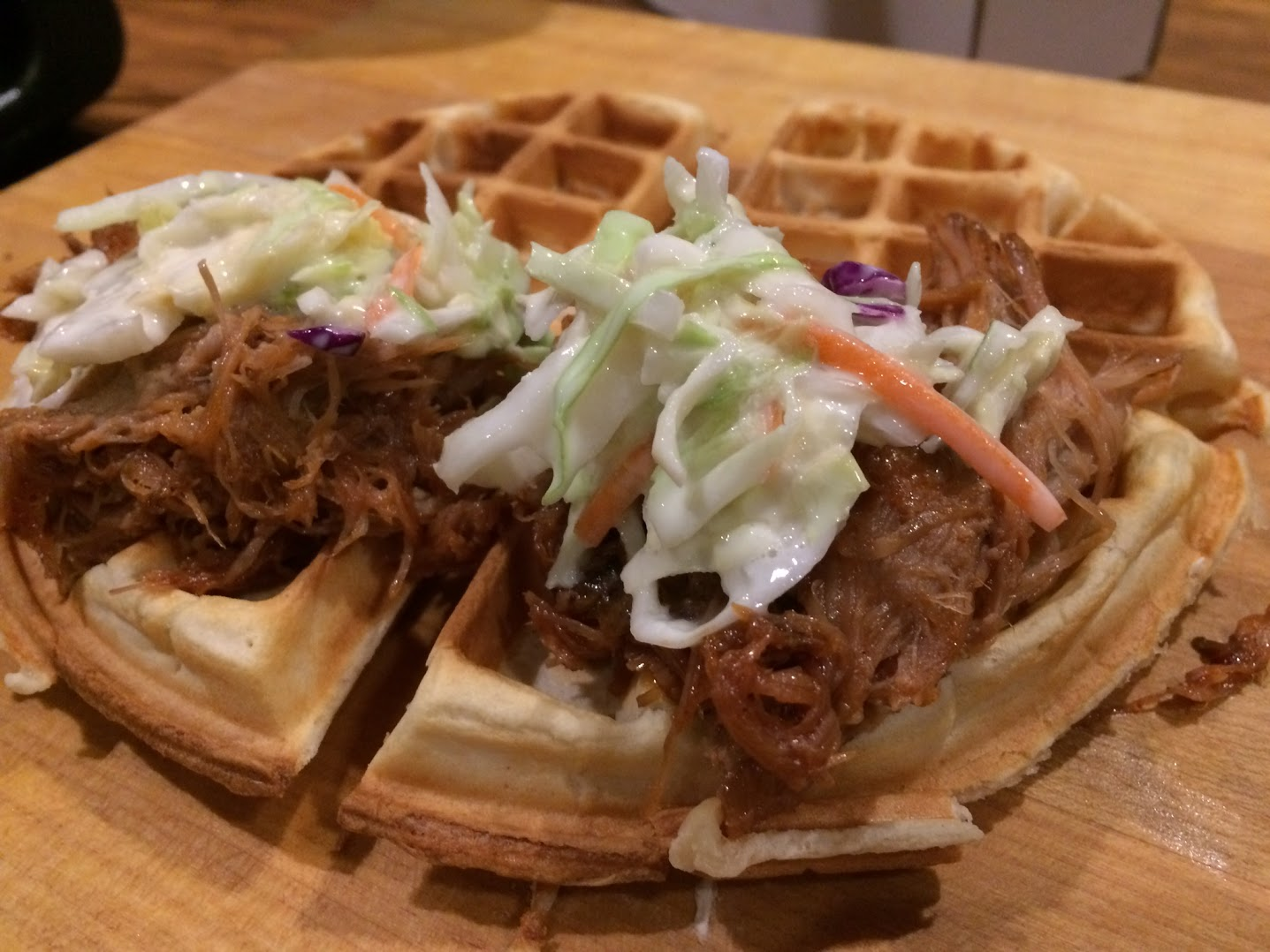 Pulled Pork on top of a waffle and topped with coleslaw served at Busch Stadium in St. Louis (Photo: St. Louis Cardinals).