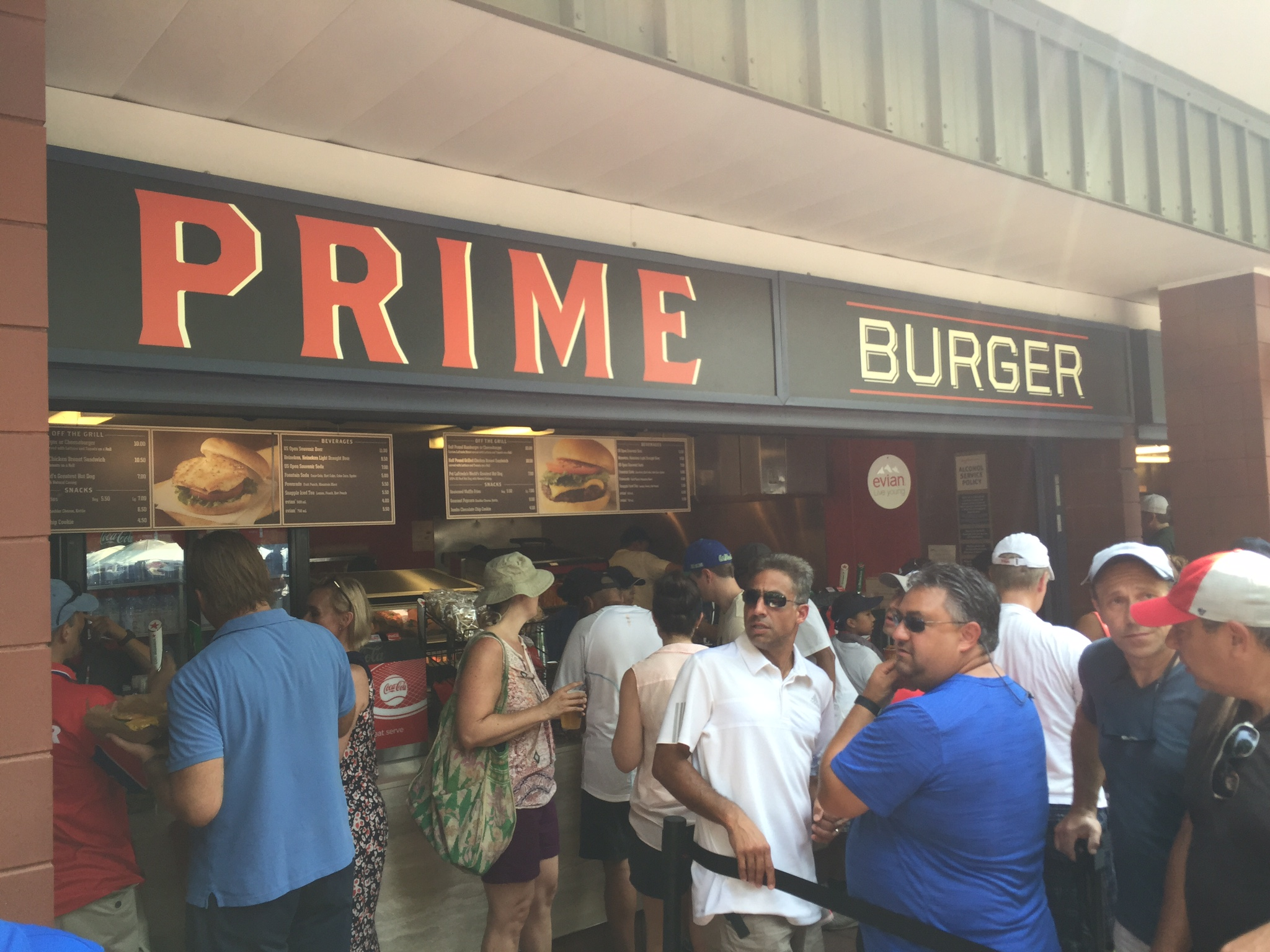 New York has no shortage of burger options, so dive in with Prim Burger while taking in the action.
