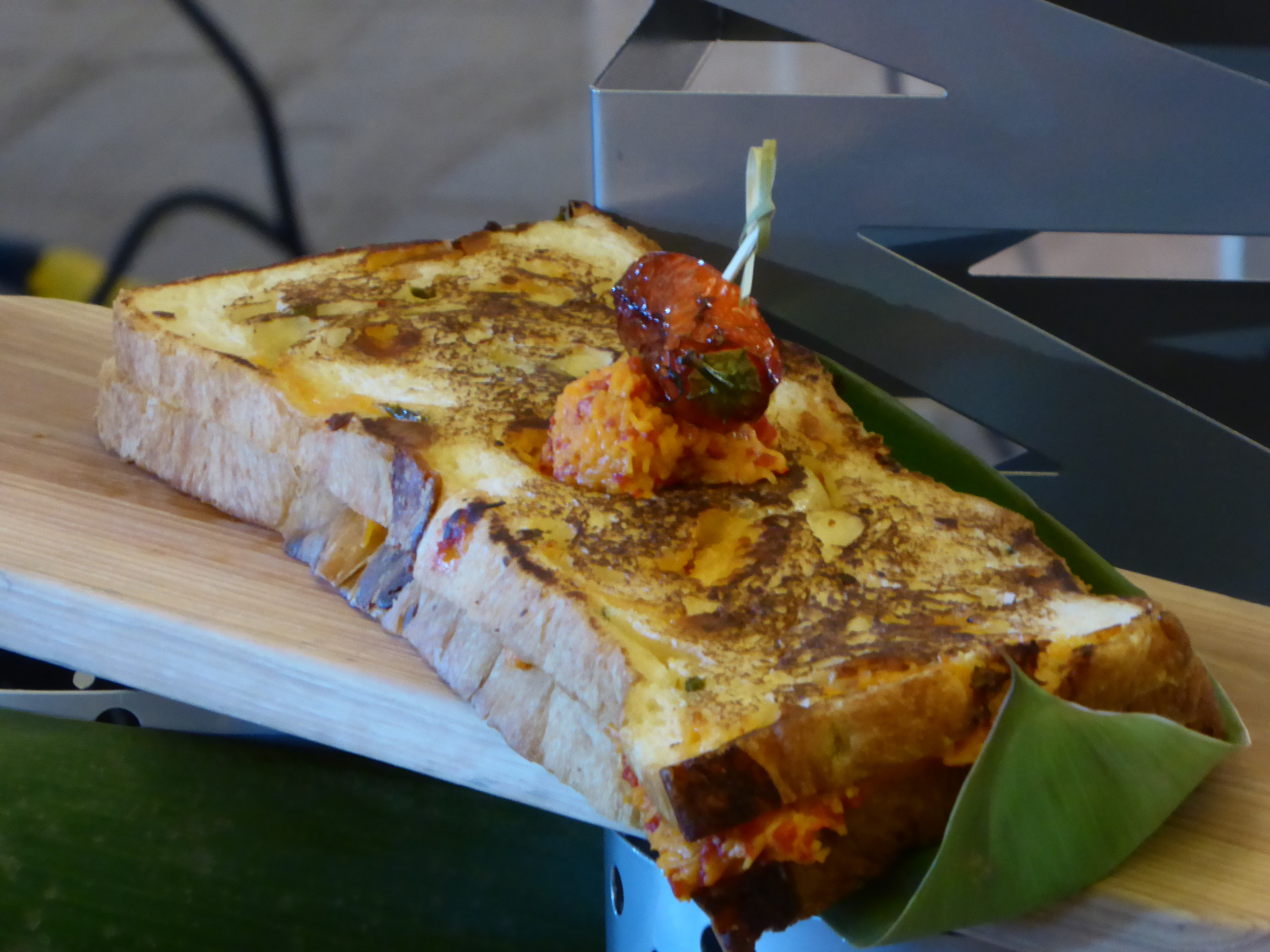 Grid Iron Griddle - Meant to be shared, it is a mix of cheddar, swiss, fontina and pimento cheeses.