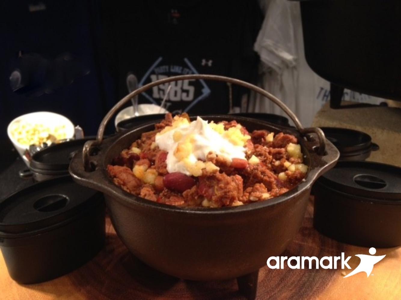 Homemade turkey chili (Aramark Sports)