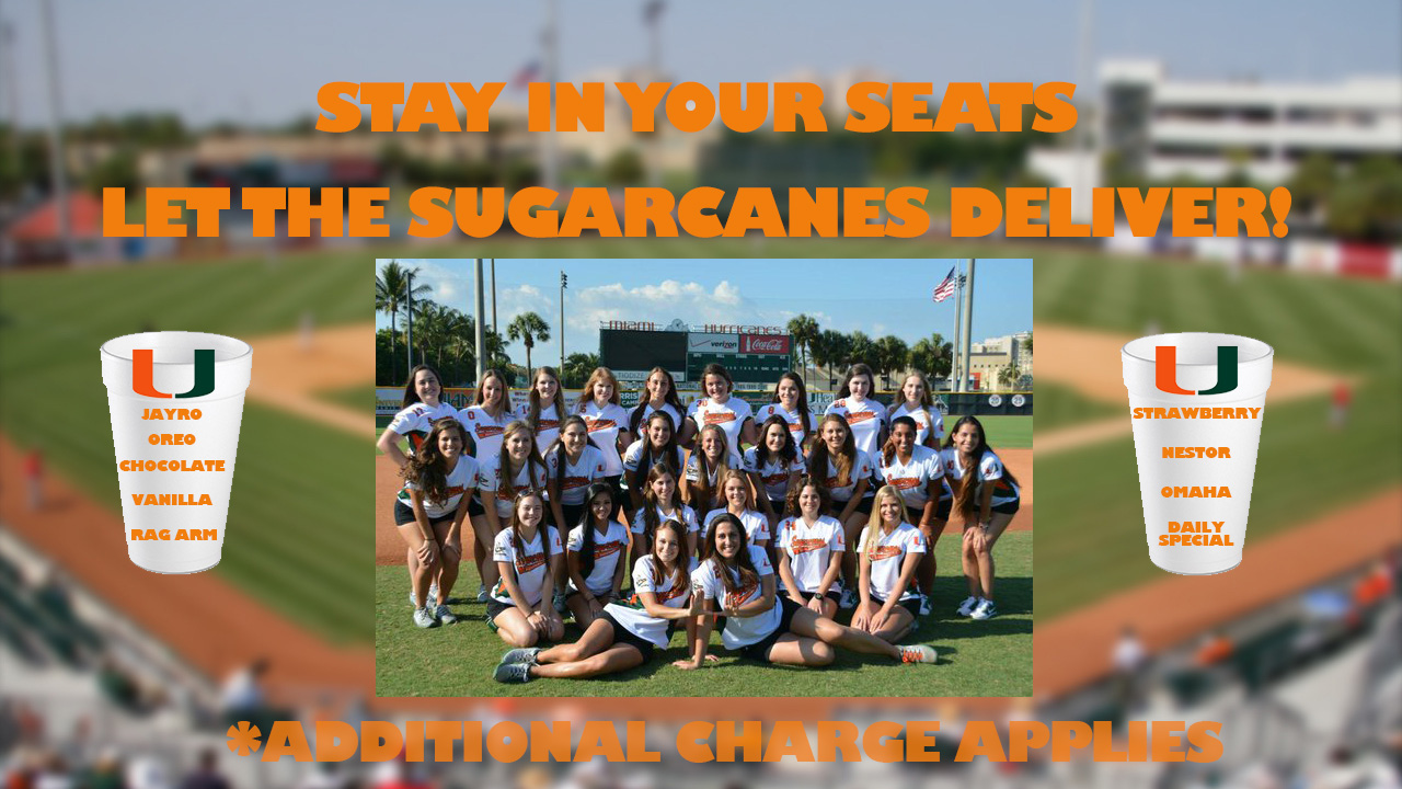 The Sugarcanes, the Miami Baseball bat girls, will provide delivery of the famous shakes.