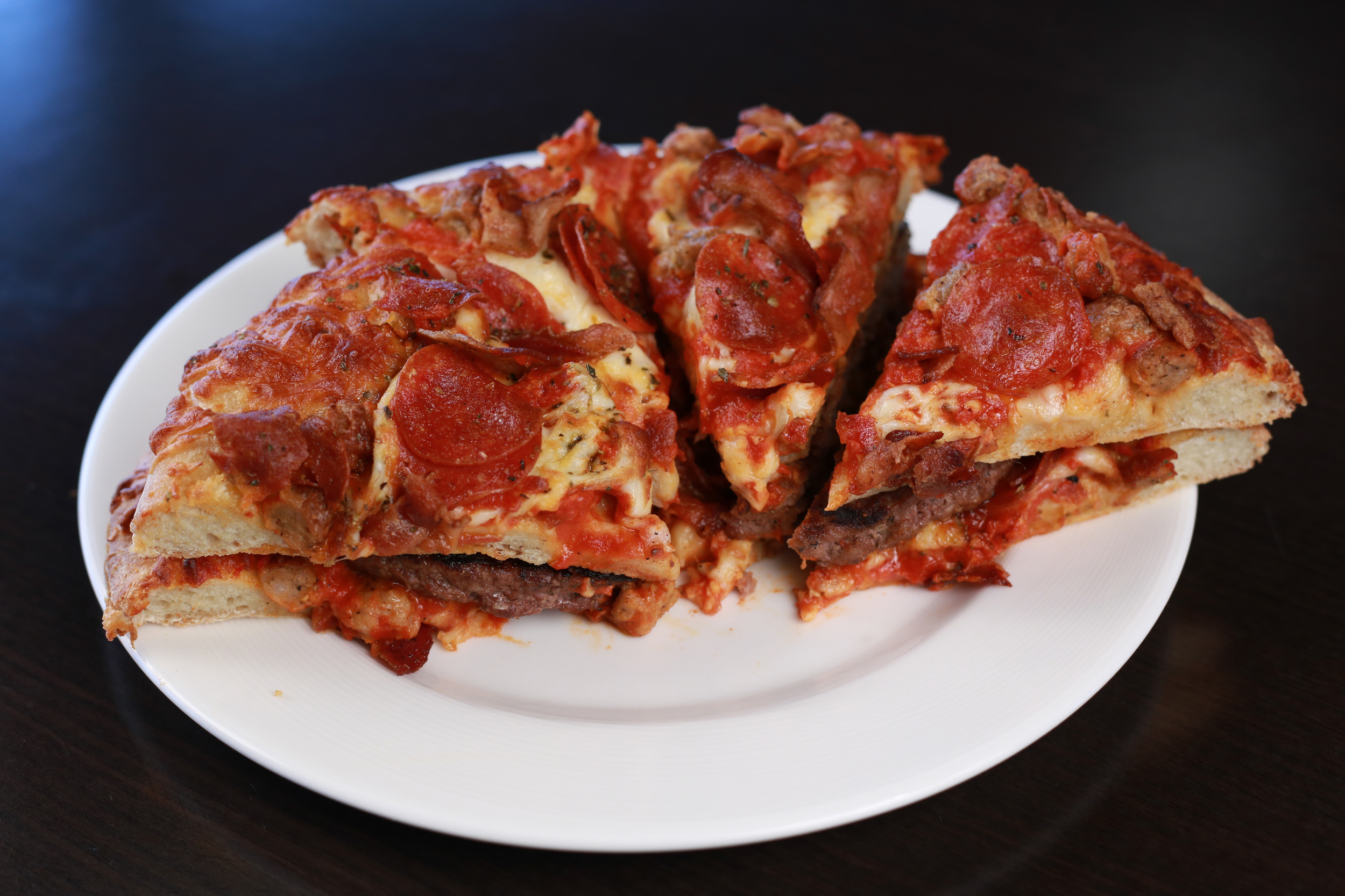 Meatlover's pizza burger (Tim Hansen/Timber Rattlers)