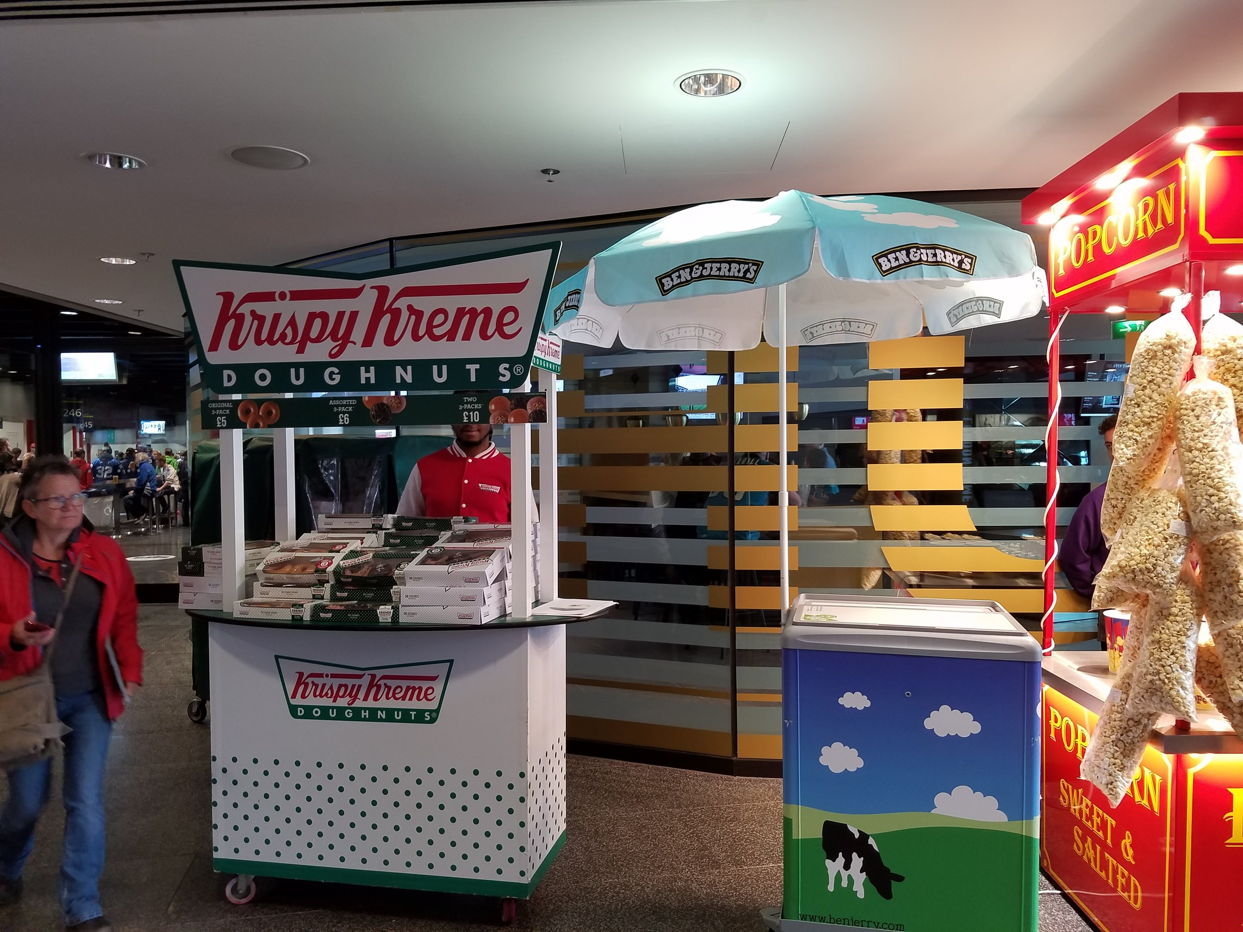 You can never go wrong with a Krispy Kreme doughnut, Ben & Jerry's ice cream...or both!