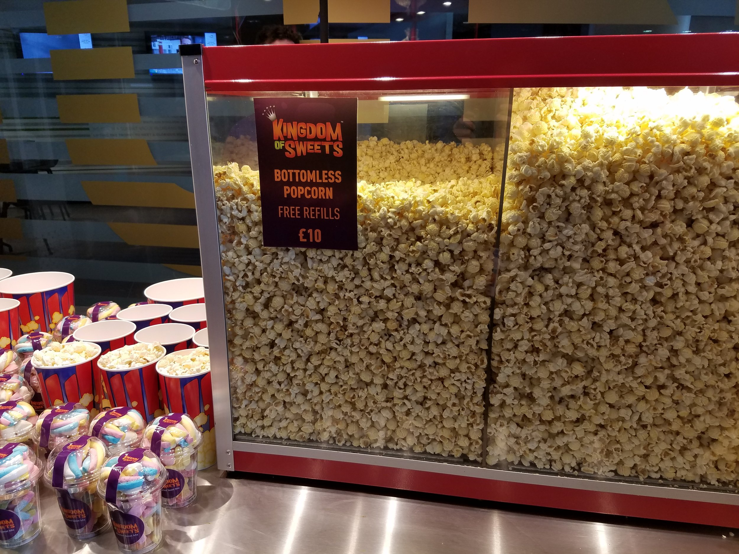 Bottomless popcorn is also available at Wembley Stadium.
