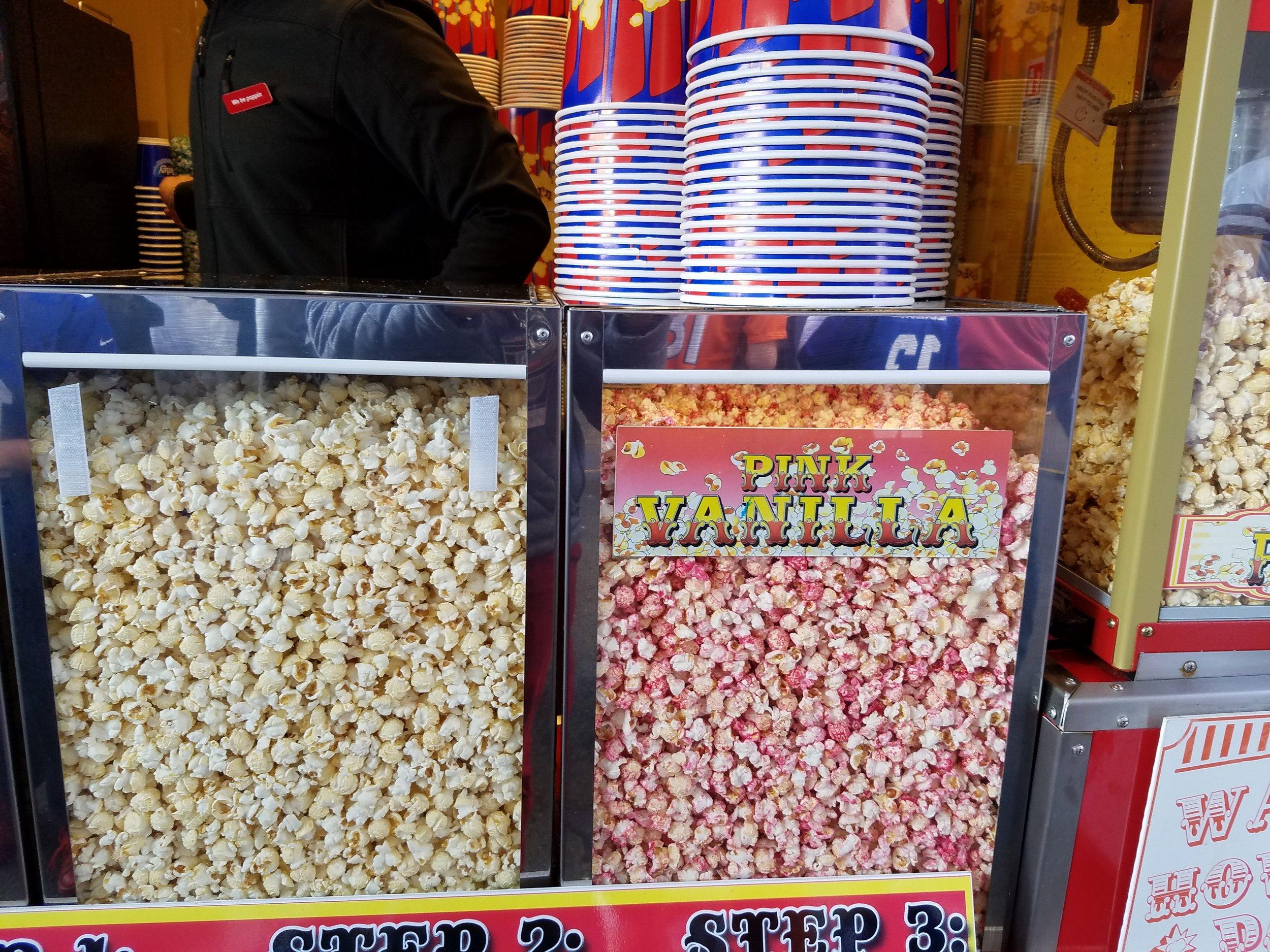 Plenty of popcorn options including pink vanilla.