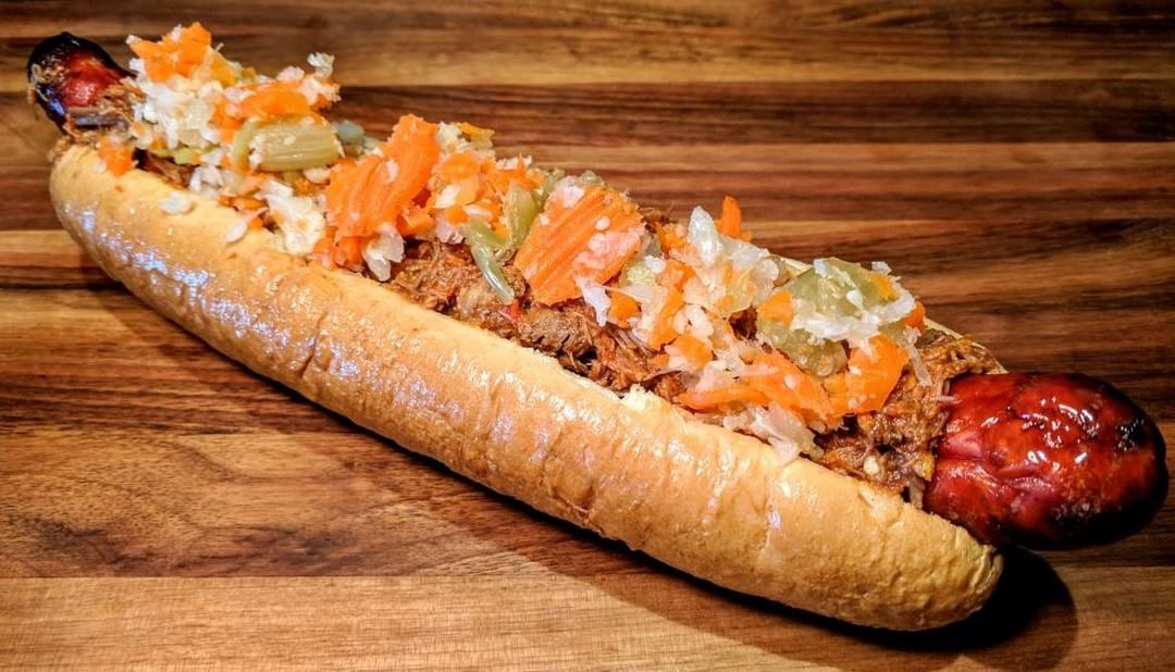 At Taste of the Majors in Sections 115 and 314, fans will find the District Duel: a foot long Half Smoke Sausage, Latin Braised Beef, Giardiniera on a foot long bun.