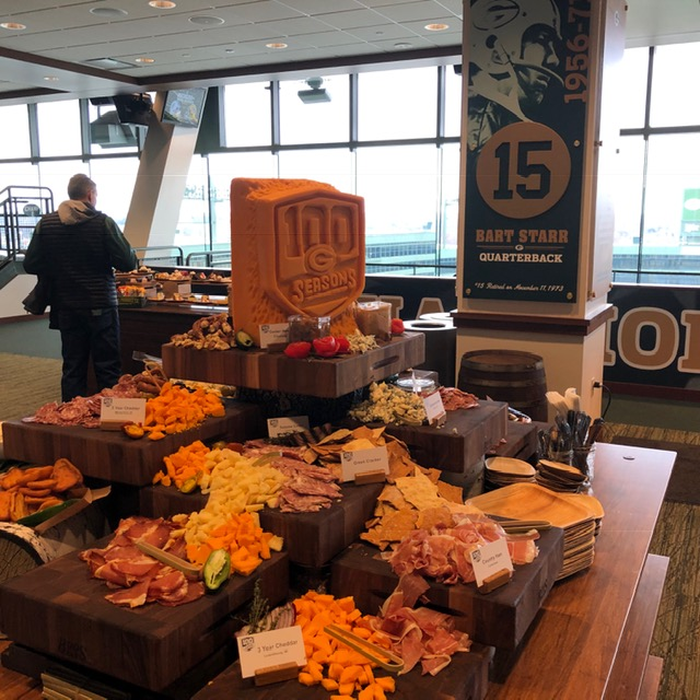 A few from the spread at the premier lounge.
