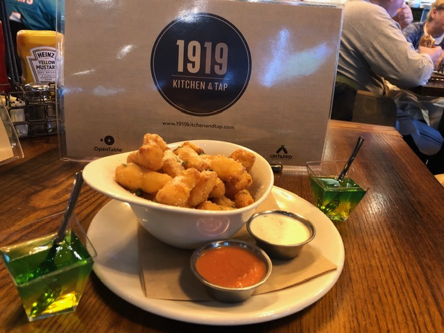 What else? Cheese curds at 1919 Kitchen & Tap