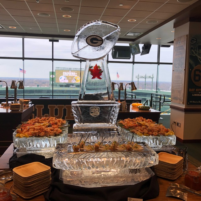 Premier Lounge in the Champions Club featuring shrimp, stone crabs and ceviche.