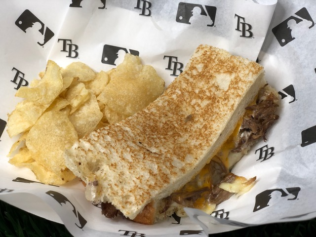 Short Rib grilled cheese down south with the Tampa Bay Rays.