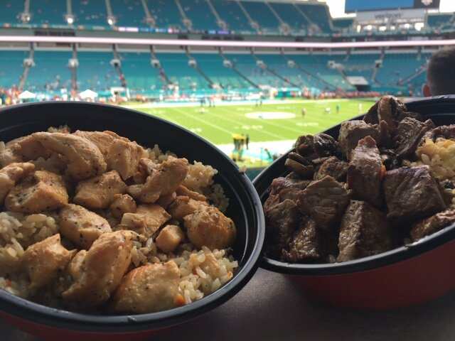Hard Rock Stadium is the only NFL venue to have a Benihana. Steak and chicken bowls cooked right in front of you!
