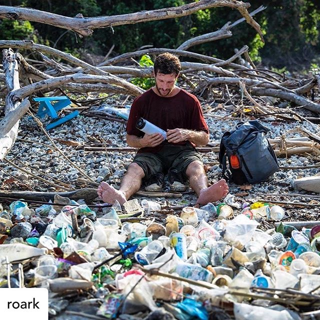 The most recent #roarkrecon journey had the team anchored in a special horseshoe bay for 10 days, surfing, fishing and taking in all the Java water's could throw our way. This sight on one of the beaches on a practically uninhabited island further instilled we all need to do more. Happy #worldoceansday, and let's all do our part. #javafever #plasticsucks #singleuseplastic