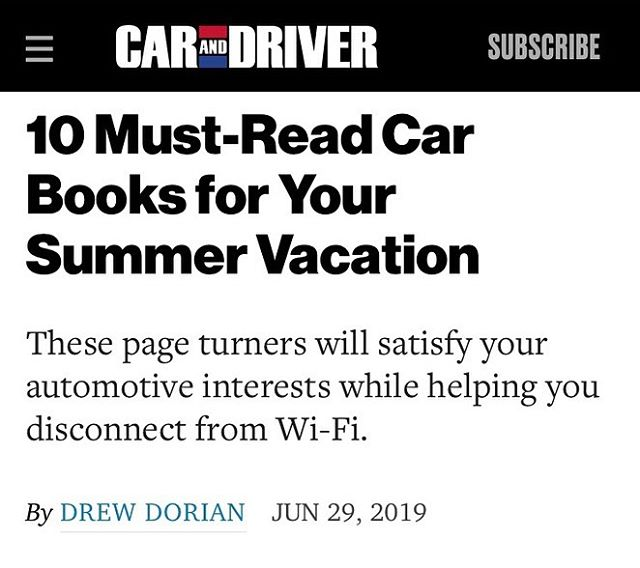 @caranddriver top 10 summer reads. . . . . #summerreads #booksofsummer #autolovers #carbooks #hawaiianbooks #valetparking #thegrandtour #davidmccullough