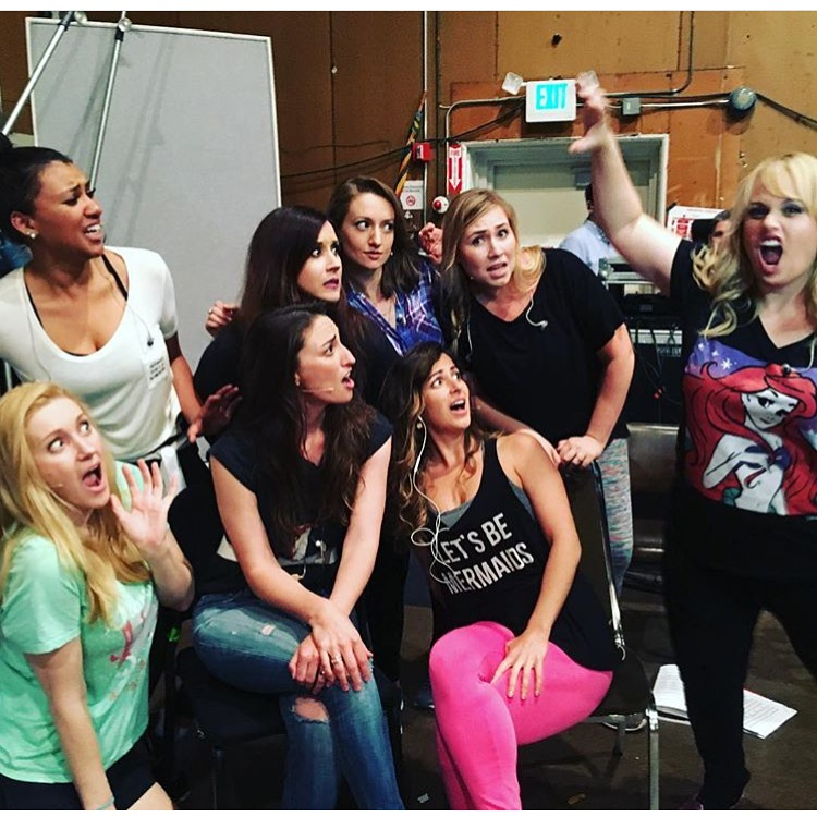 The mermaids with Sara Bareilles and Rebel Wilson