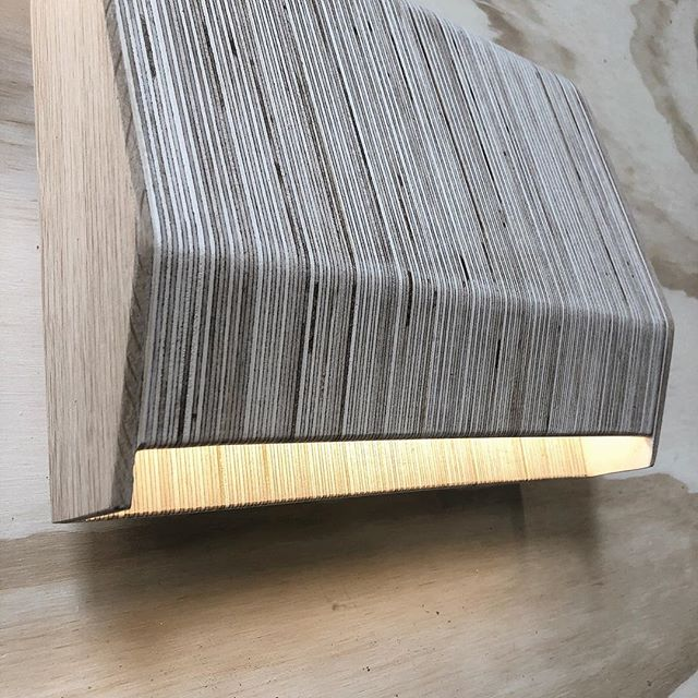 New prototype for an architectural project, or #custom #sconces blending solid and engendered lumber into one sweet form? @itsastacyday 👉🏼#lightdesign #problemsolver #design #different #lightlite #led