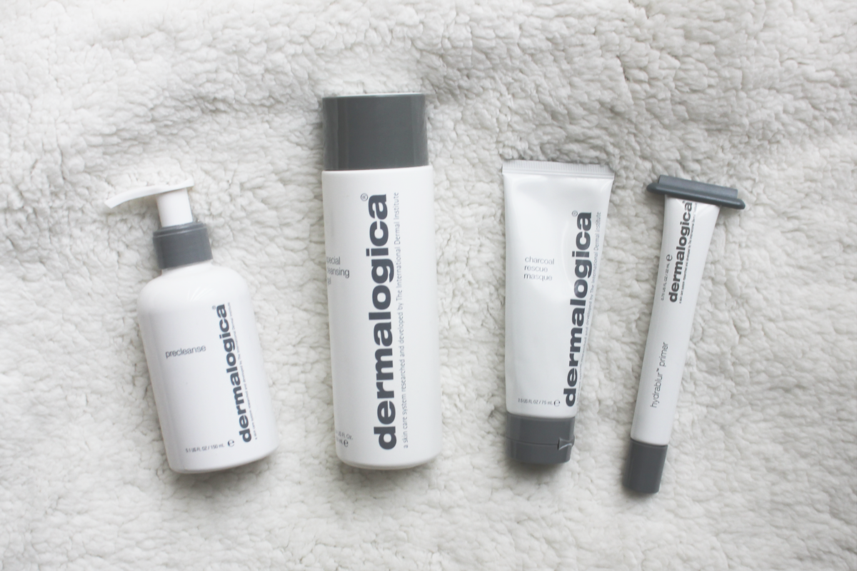 Dermalogica Pre Cleanse, Special Cleansing Gel, Charcoal Rescue Masque, Hydrablur Primer