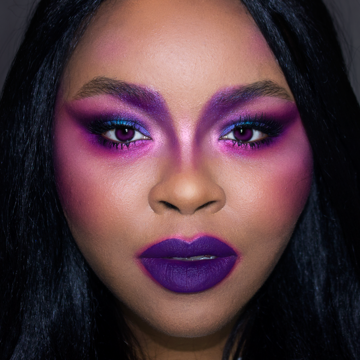 Dramatic Purple Makeup