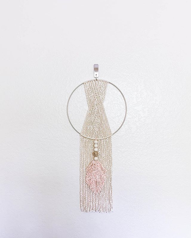 Natural + Blush 100% cotton wall hanging  _ _ _ #ourmakerlife #buyfolk #etsymade #makersmovement #macrame #wallhanging #fiberart #bohodecor #bohemian #homedecor #thatsdarling #hobbylobby #modernhome #etsyseller