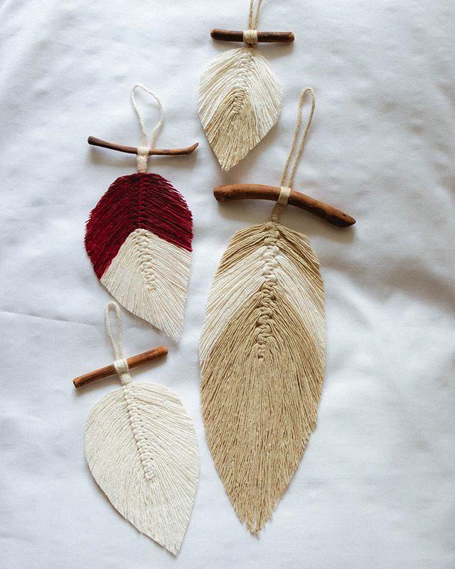 feathers  _ _ _ #ourmakerlife #buyfolk #etsymade #makersmovement #macrame #wallhanging #fiberart #bohodecor #bohemian #homedecor #thatsdarling #hobbylobby #modernhome #etsyseller #handmadewithjoann #yarnsirations