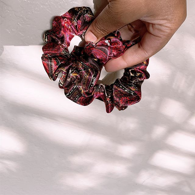 quickie. made some satin #scrunchies