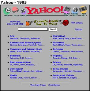 Yahoo's 1998 Design