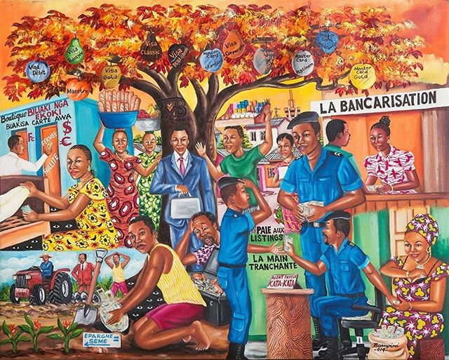 Bompini's painting for the Trust Merchant Bank #DRC #financialinclusion #inclusivegrowth