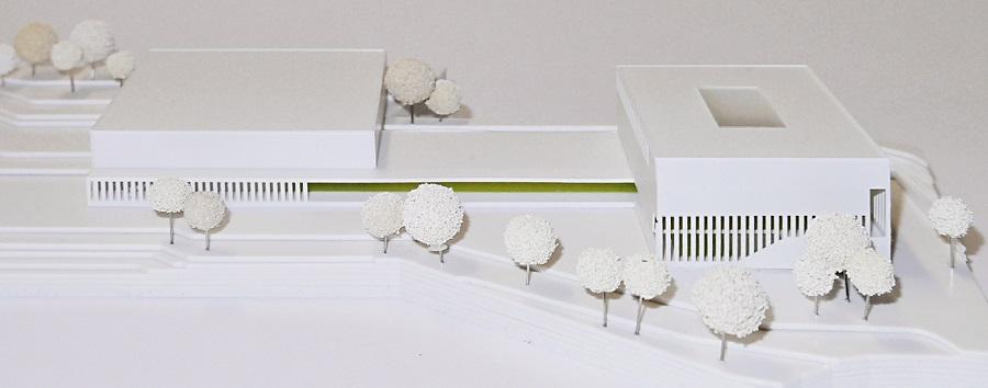 Modell - Wettbewerb inklusive Gesamtschule Rosenhöhe Bielefeld © Kersten Kopp Architekten GmbH
