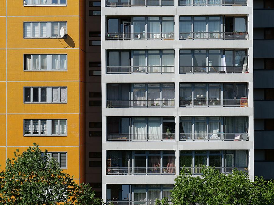 Individualität in Serie: Sozialer Wohnungsbau in der Kreuzberger Lindenstraße © Architektenkammer Berlin
