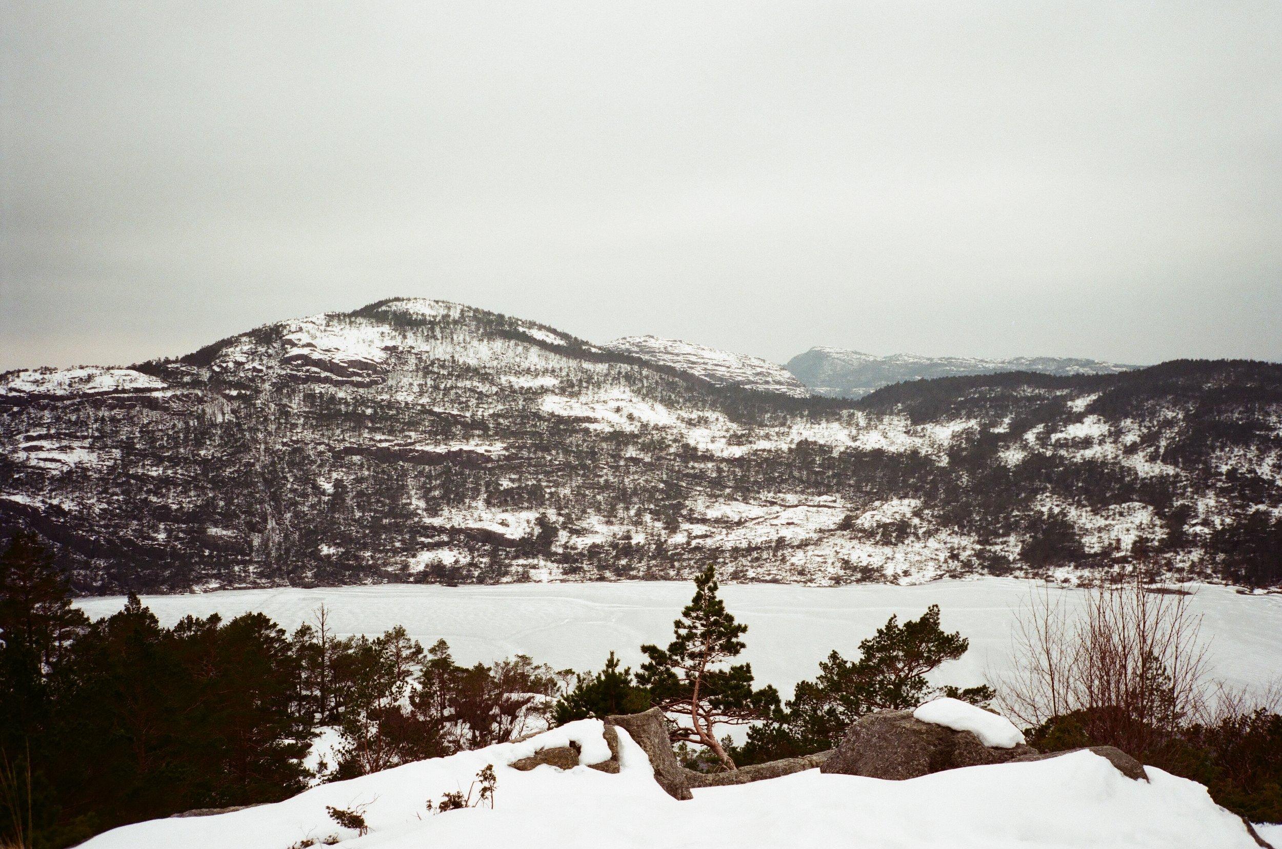 沿路風景都是白白的,雪厚厚的,風冰冰的,身體卻是熱熱的。
