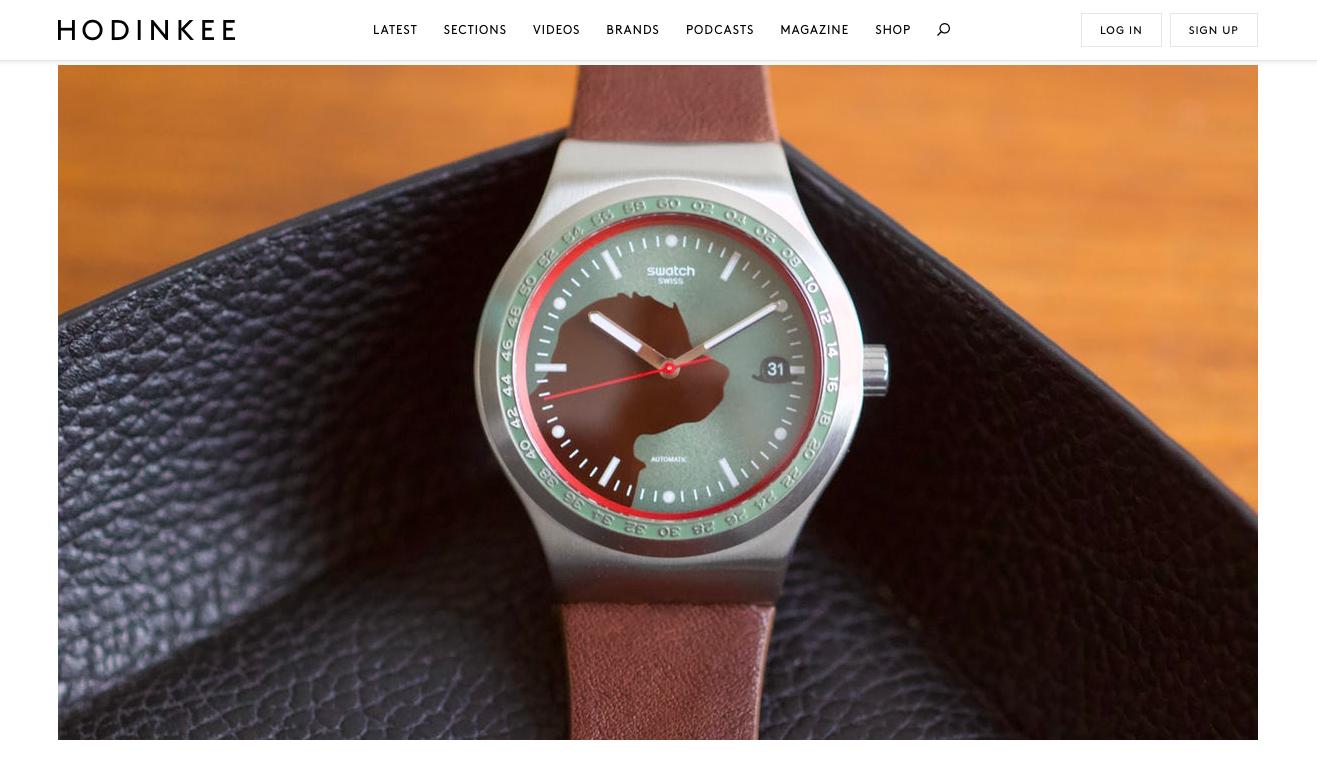 HODINKEE:  Introducing The Swatch x Hackett Sistem51 Irony