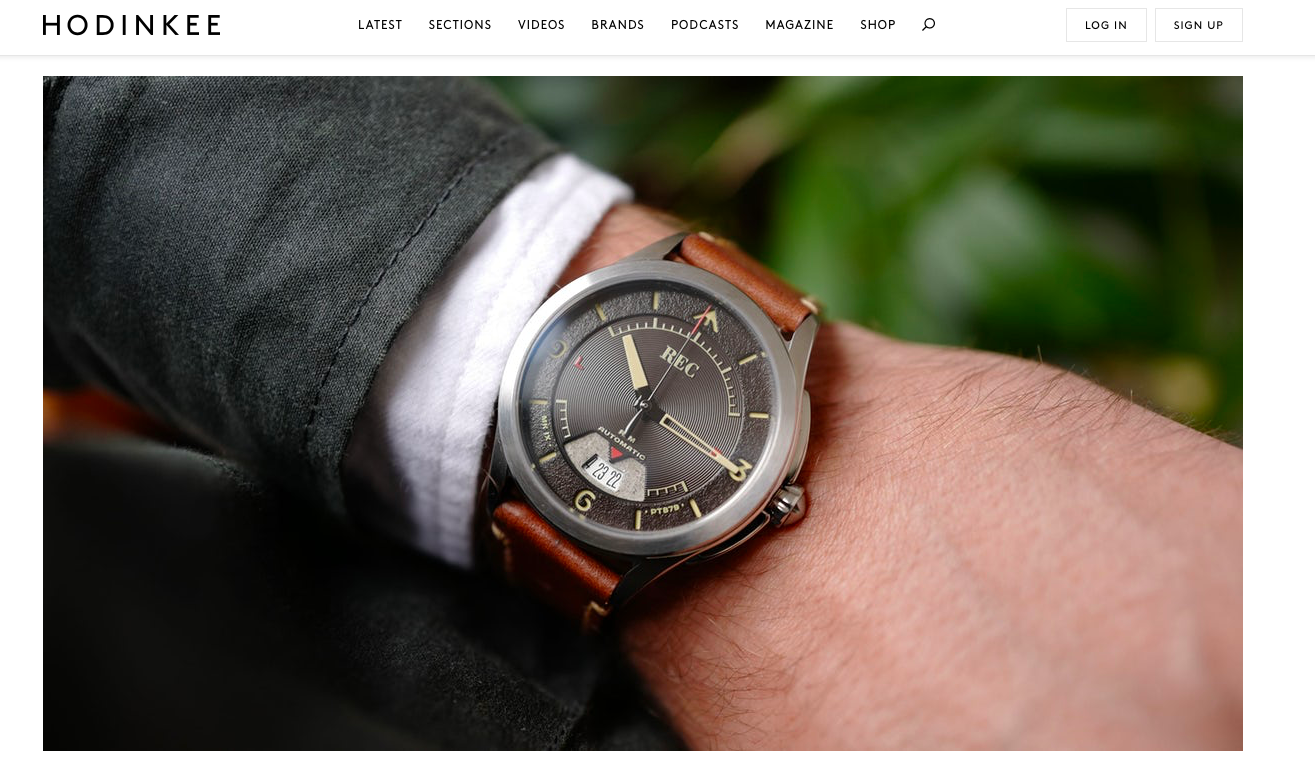 HODINKEE:  Introducing The REC Watches RJM