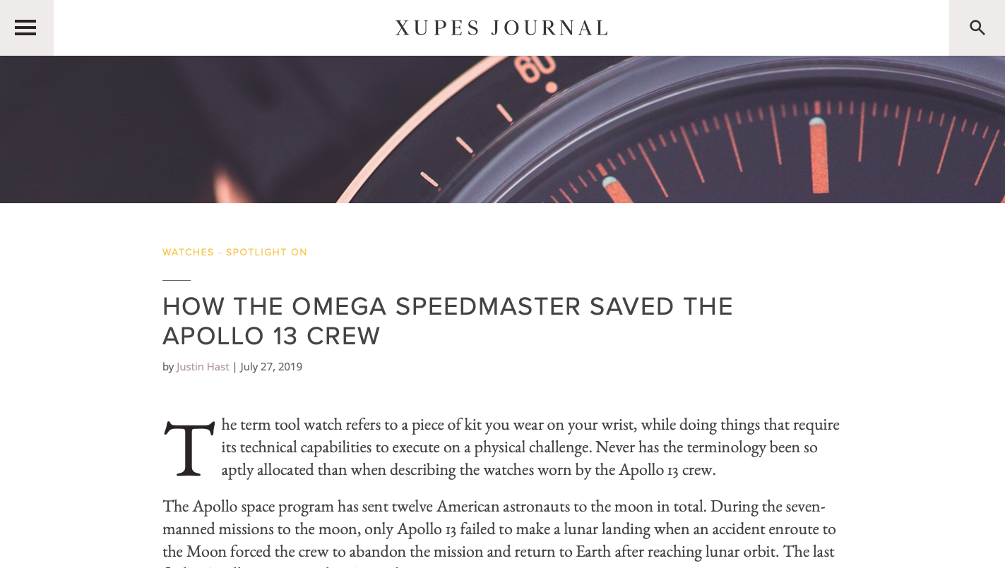 XUPES:  How The Omega Speedster Saved The Apollo 13 Crew