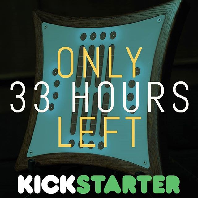 This is it. We have reached the final stretch of our #Kickstarter campaign. ONLY 33 HOURS TO GO! Order your very own Mune instrument before it's too late. You can find the link to our Kickstarter campaign in our bio. . . . #synth #synthesizer #mune #midi #midicontroller #makemusic #musicperformance #musicproduction #dj #abletonlive #ableton #beats #electroacoustic #classicalcomposer #classicalmusic