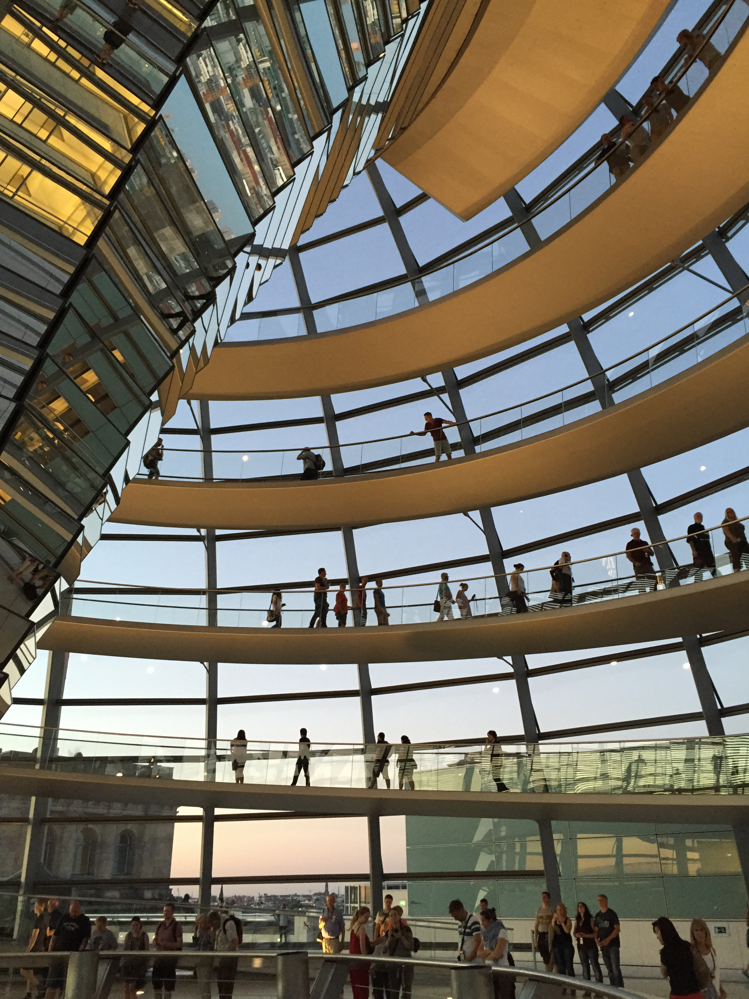 The much-lauded Reichstag Dome more than lived-up to expectations. A breath-taking exercise in architectural story-telling. I visited late in the evening and was surprised by the relaxed atmosphere and the fact we were able to wander freely well after 11pm.