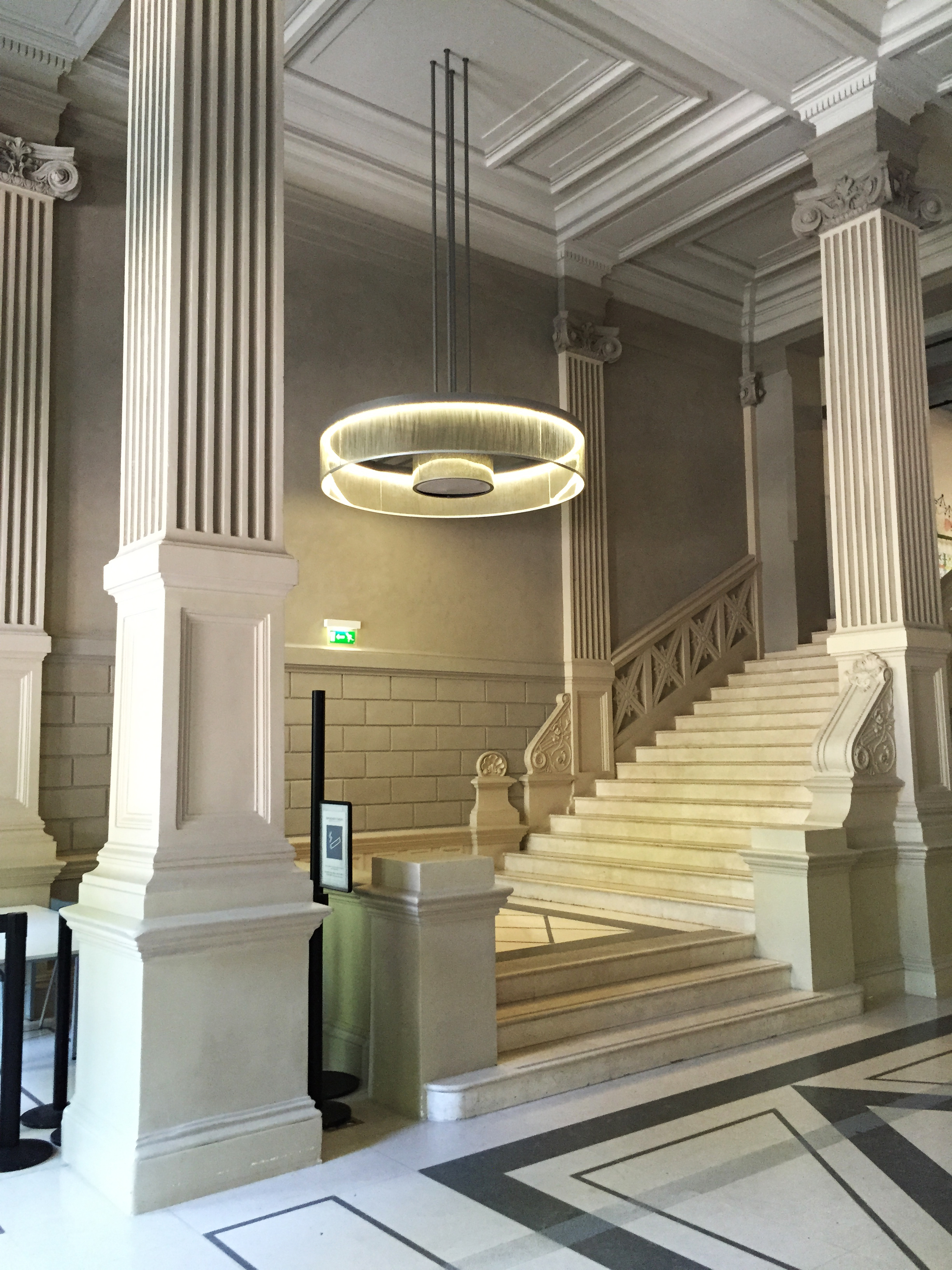19th century staircase at the former theatre La Gaite Lyrique. Recently converted into a centre for digital arts, most of the building is singularly lacking in character but the staircase continues to express some life.