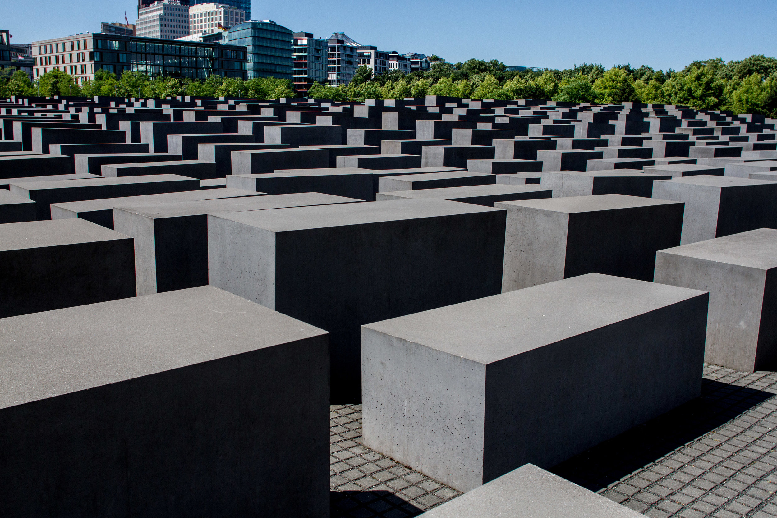 Memorial to the Murdered Jews of Europe in Berlin. Designed by Peter Eisenman, opened May 2005. Image copyright John Dawson