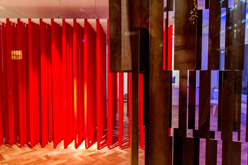 'Detente': interactive architextile installation, London 2016 // Image credit: John Dawson
