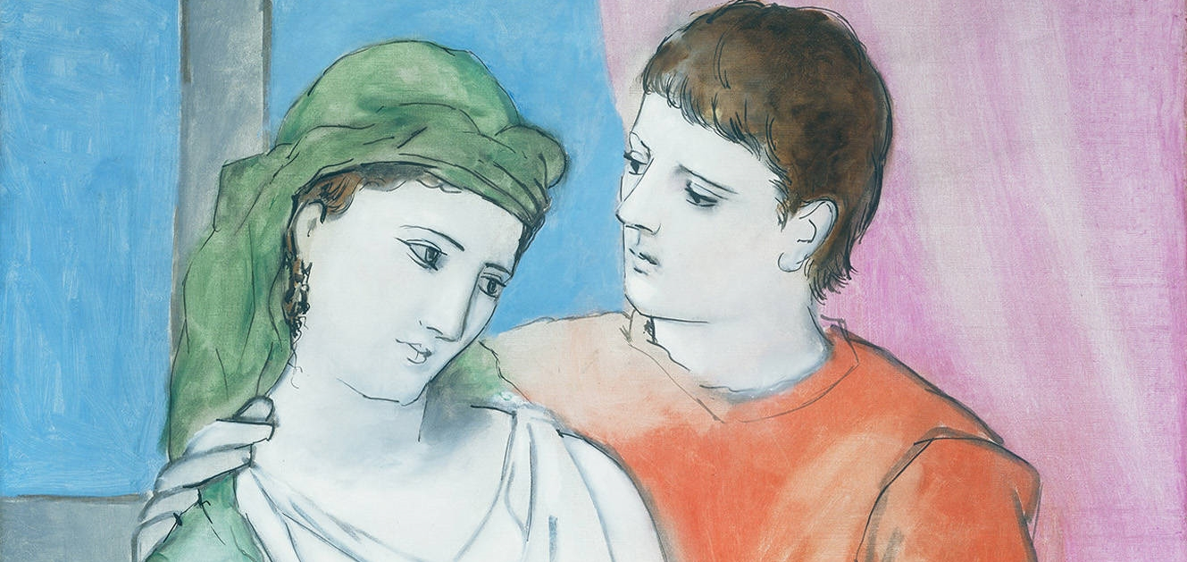 The Lovers –  Pablo Picasso  (1923) oil on linen (detail)