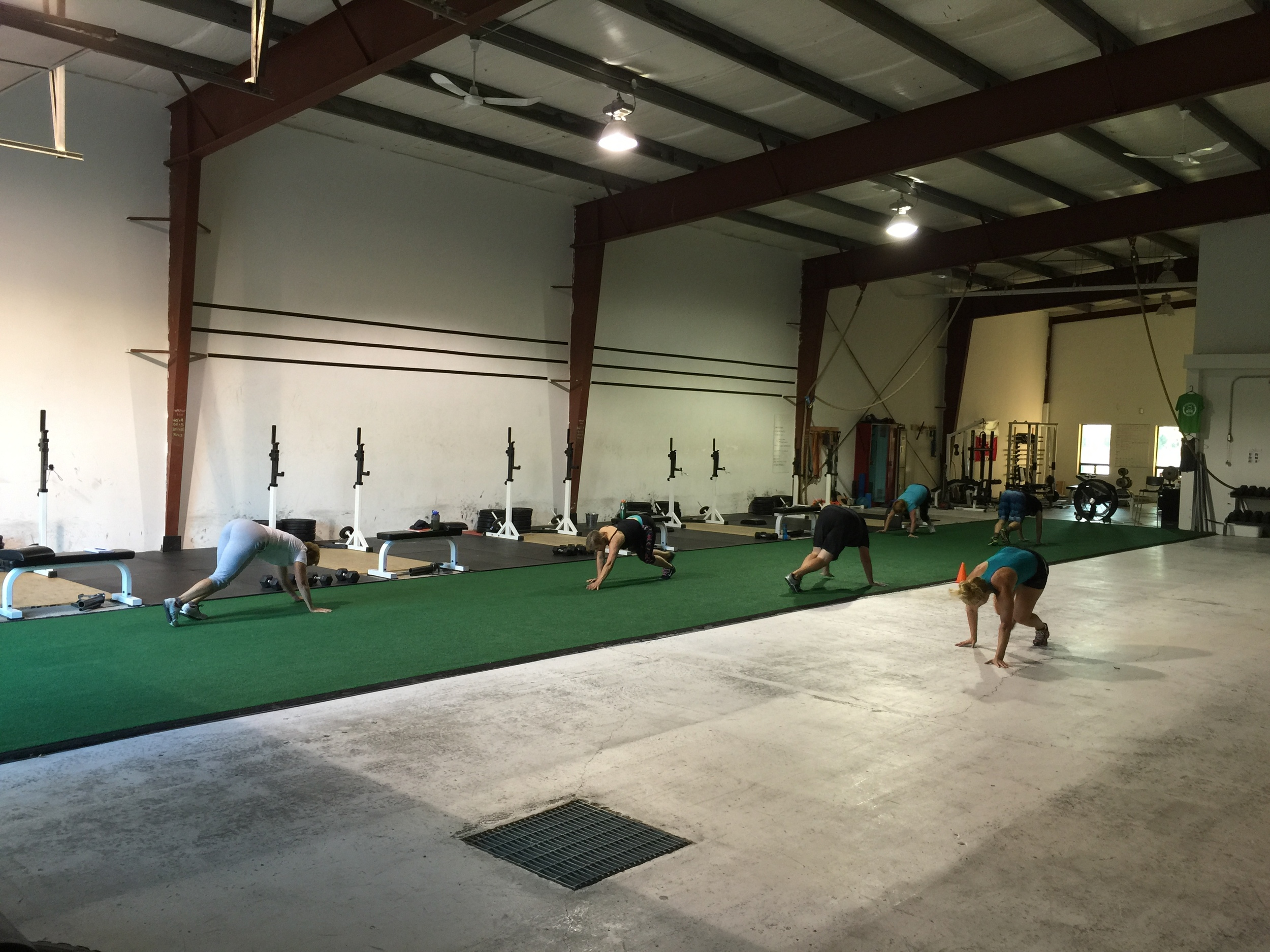 Some bear crawl action from the 06:30 group this morning
