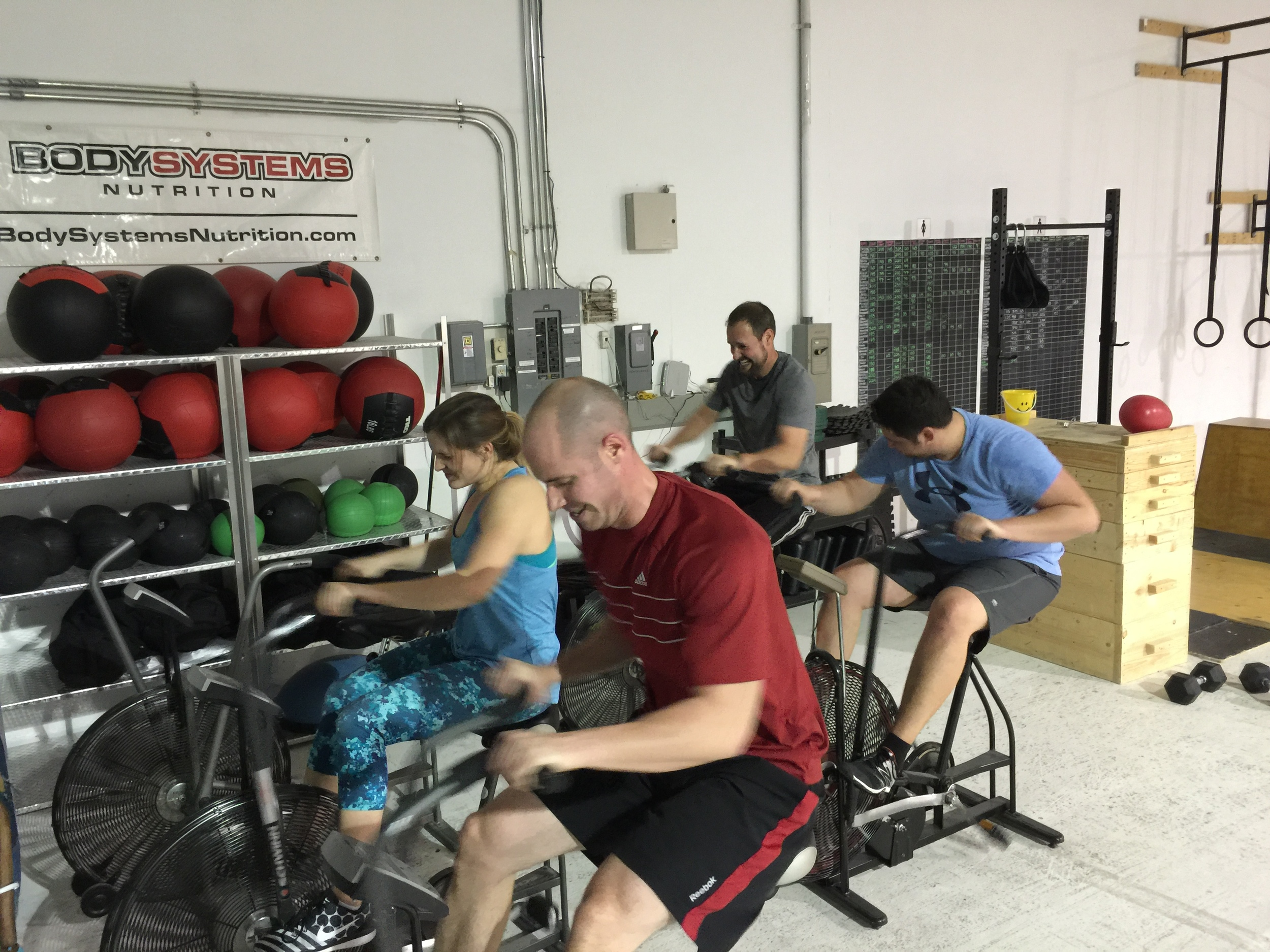 Some footless air dyne action to finish off the shoulder conditioning.
