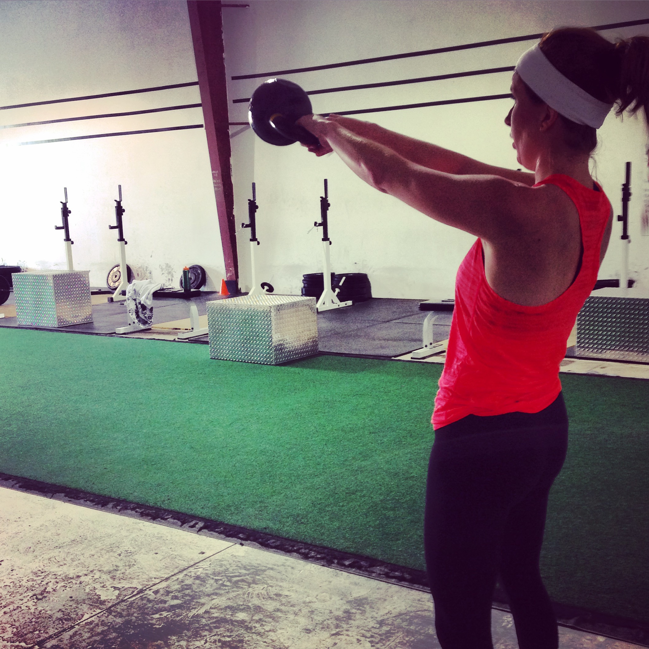 Sarah with some KB swings