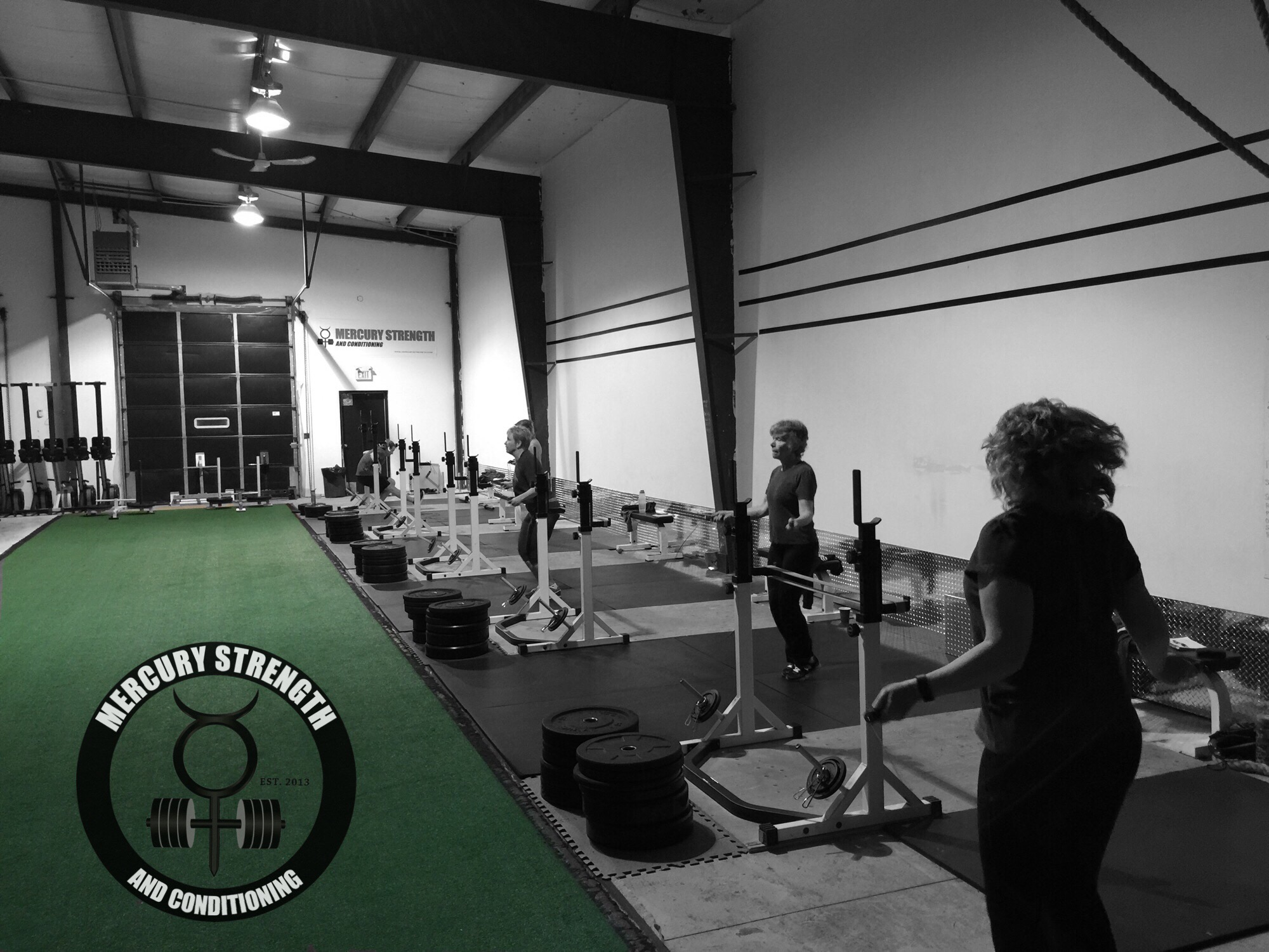 06:30 class getting some skipping in after a 40m prowler push.