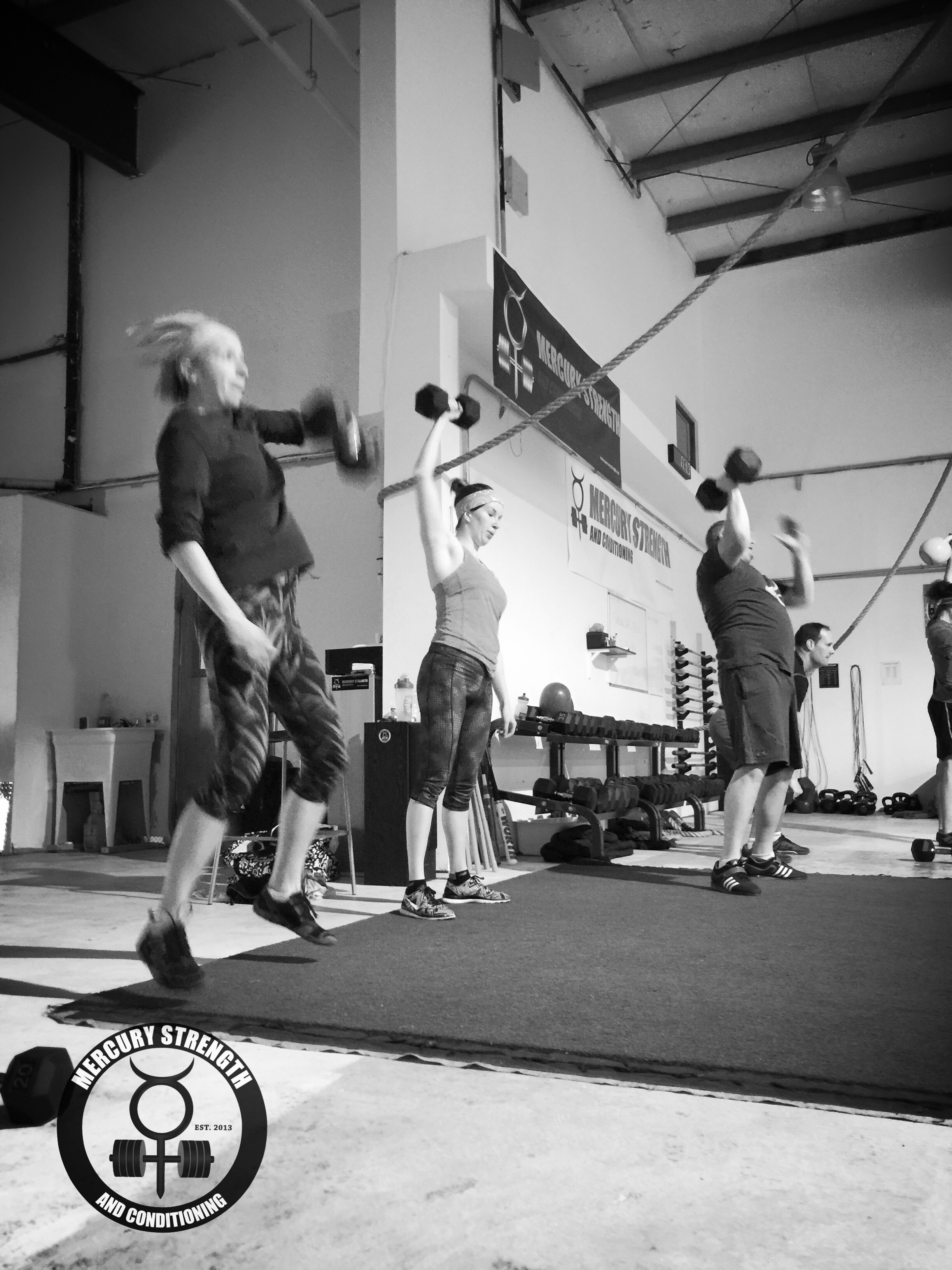09:30 session getting some explosive DB hang power cleans in after an overhead DB carry.