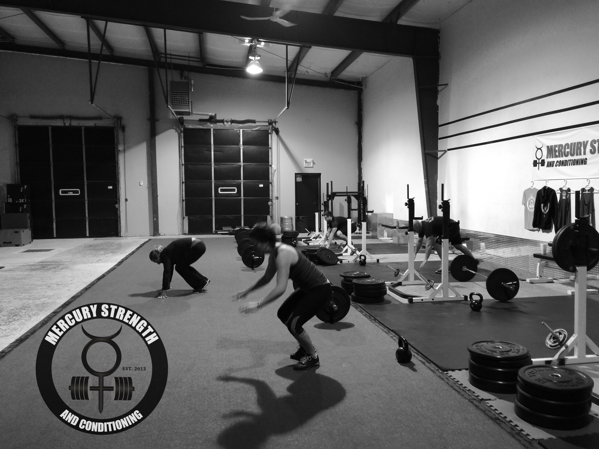 Shawna, Alex, Colby, and Corey getting some burpees in last night.