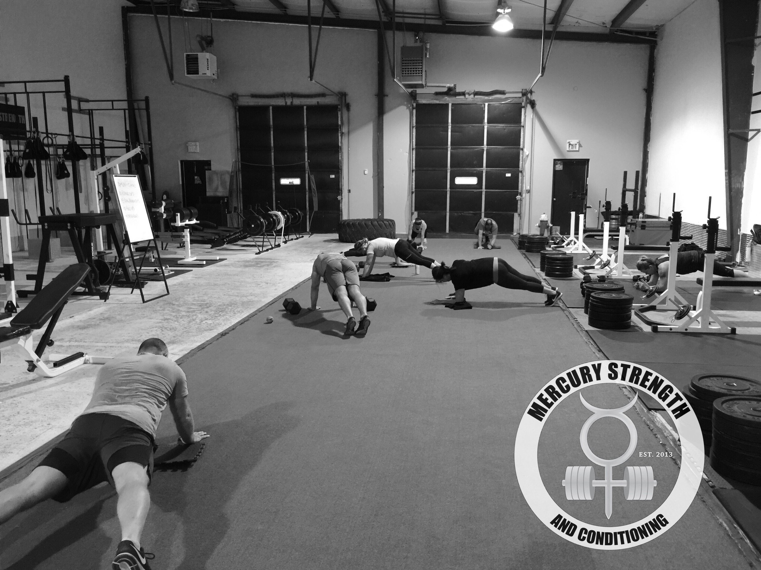 A busy 0630 starting a new training cycle with some plank ups